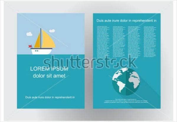 flat design cruise brochure template1