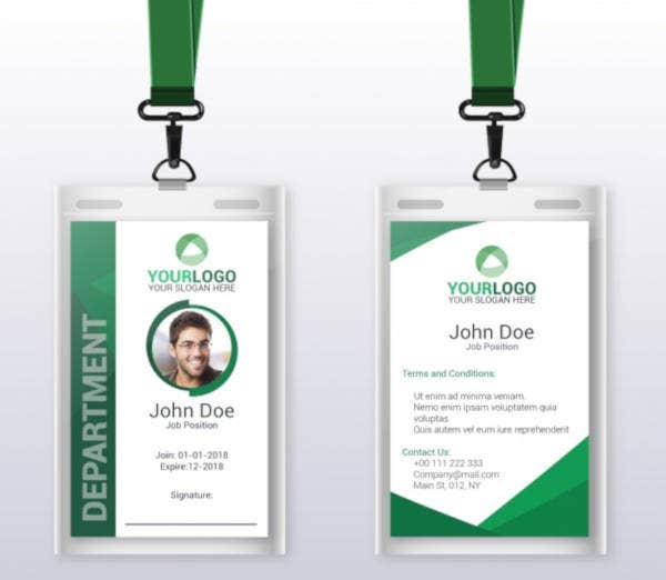 flat id card template 1