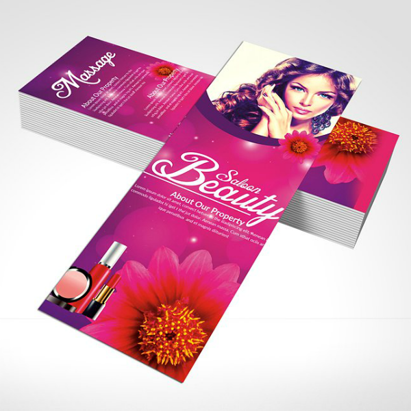 Floral Salon Rack Card Template