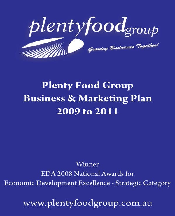 food group business and marketing plan 01