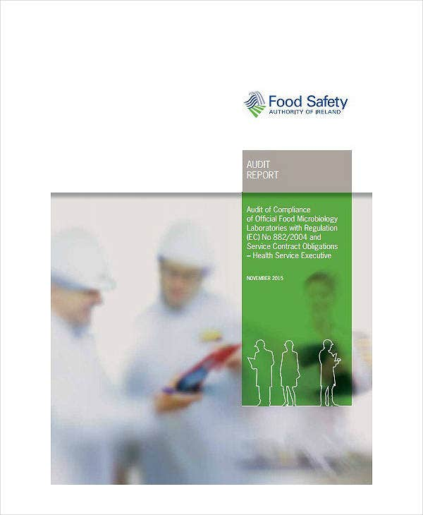 food laboratory audit report template