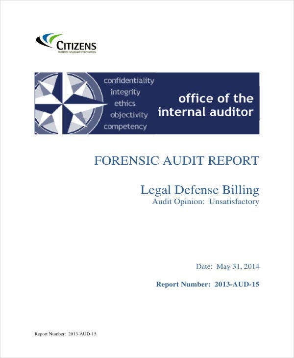 9+ Forensic Audit Report Templates - PDF, Word, Google Docs
