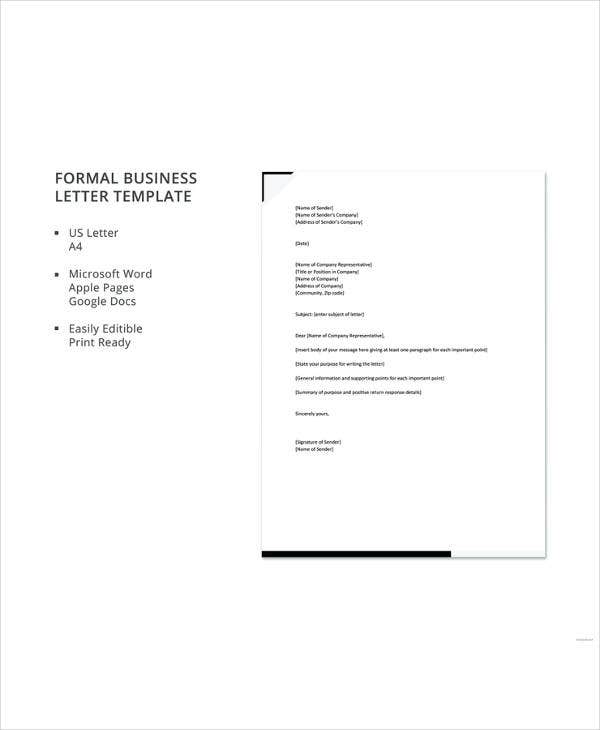formal business letter template2