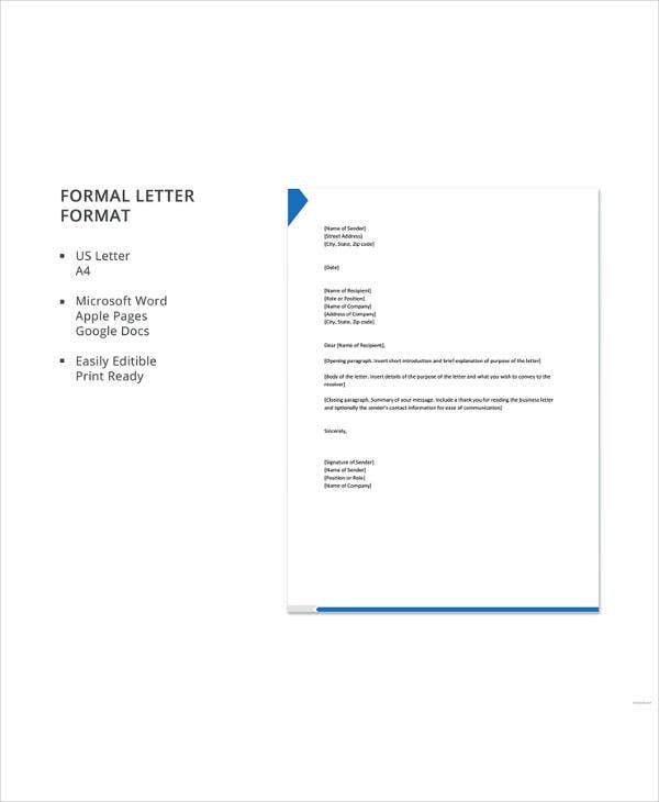 35 best formal letter templates