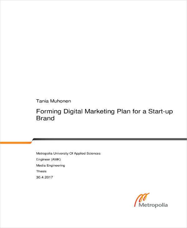 forming digital marketing plan