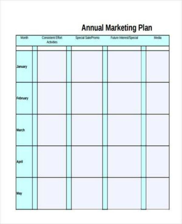 free annual marketing plan1