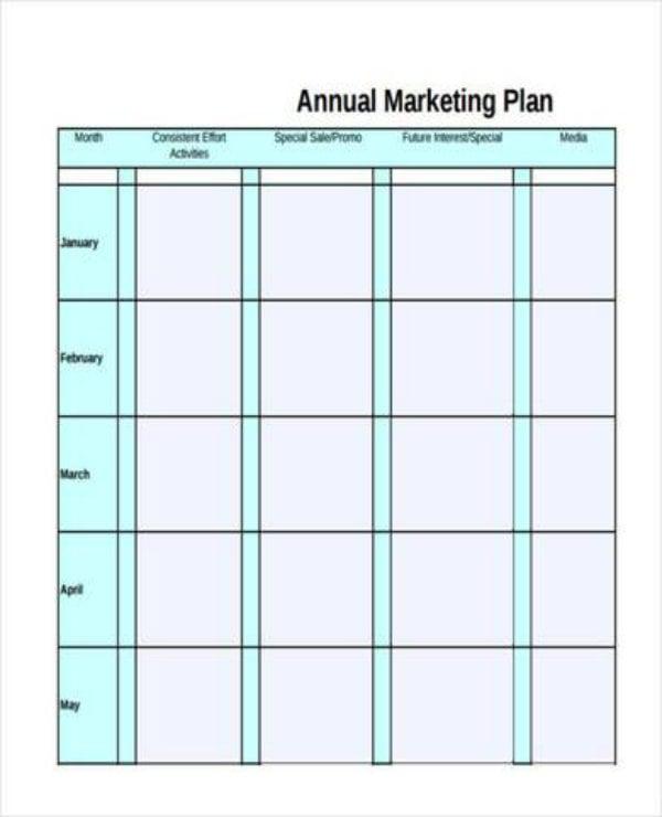 free annual marketing plan1
