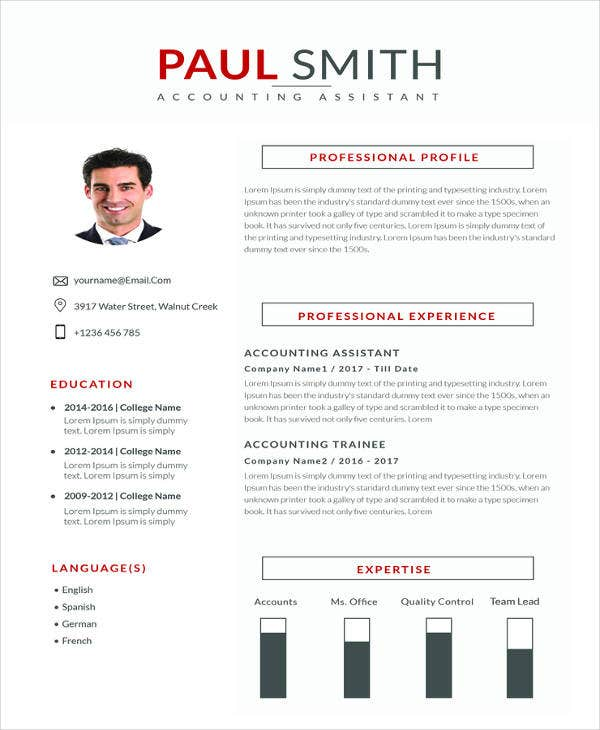 free assistant accountant resume template1