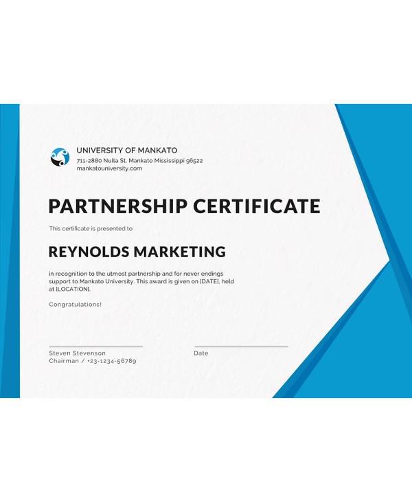 free business certificate design template1