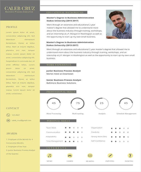 Executive Resume Template 14 Free Word Excel Pdf: 14+ Executive Resume Templates - PDF, DOC
