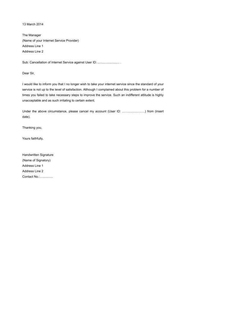 Termination letter templates 26 free samples examples formats download internet service termination letter template example mitanshu Gallery