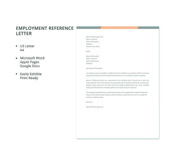 job reference list template microsoft word