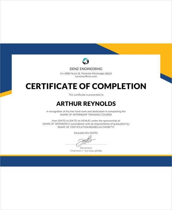 Certificate Template 45 Free Printable Word Excel Pdf Psd