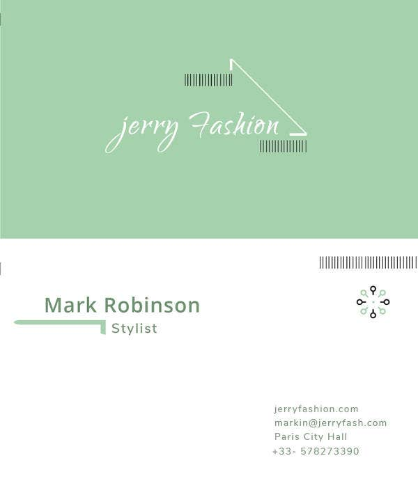 free fashion store business card