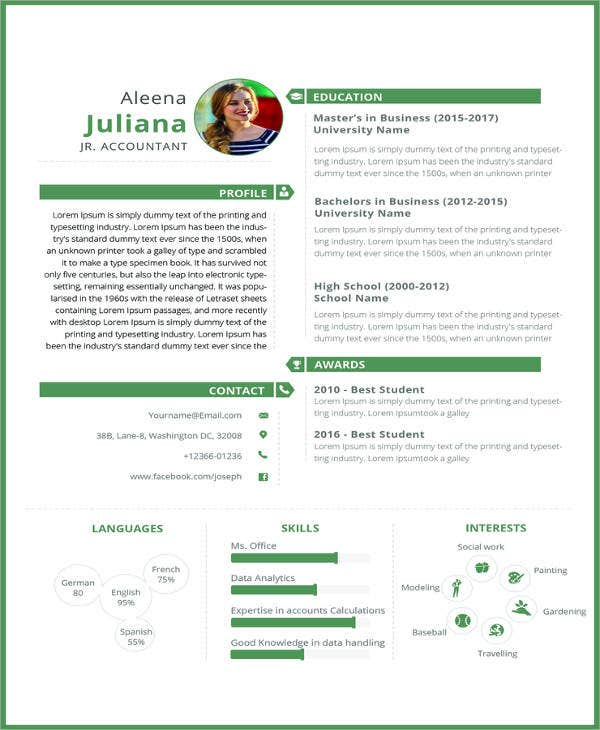 free junior accountant resume template1