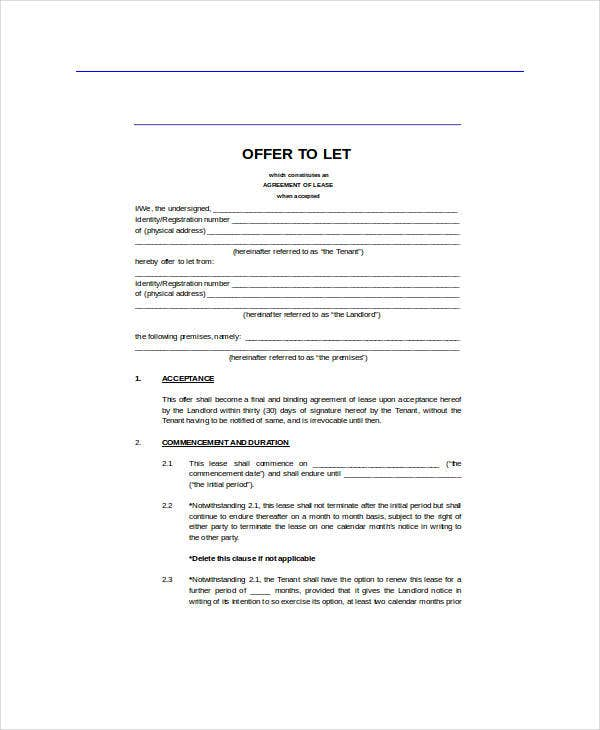 free land lease agreement