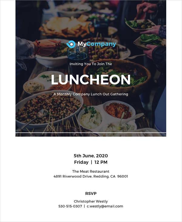 free luncheon invitation template