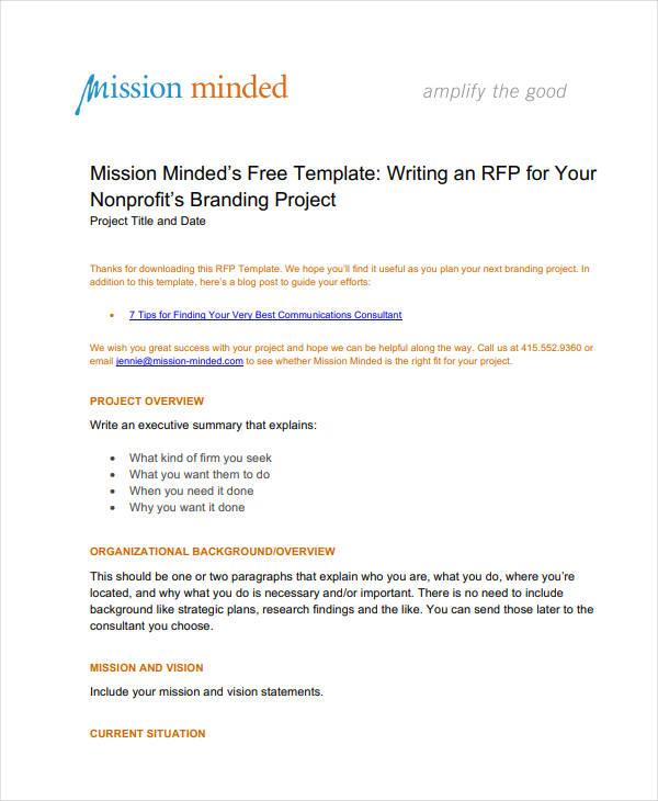 free non profit branding template