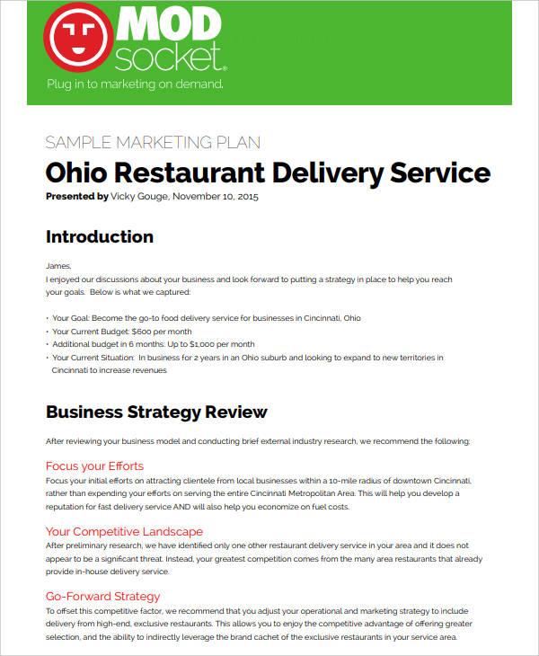 free restaurant social media marketing plan
