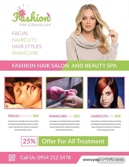 free salon flyer