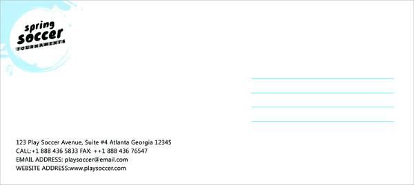 free soccer envelope template