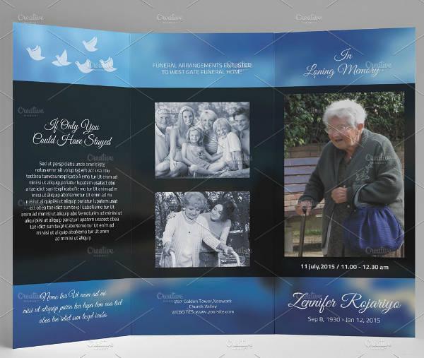 Funeral Service Tri-Fold Brochure Template