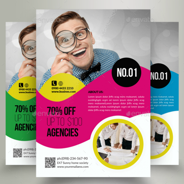 Funny Colorful Business Analyst Flyer Template