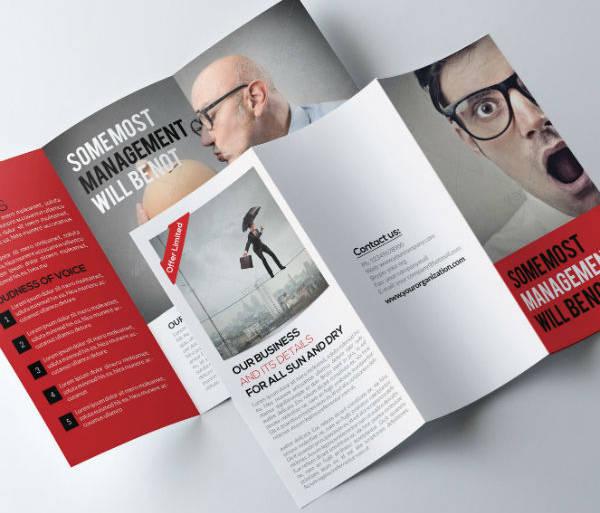 funny job agency brochure template