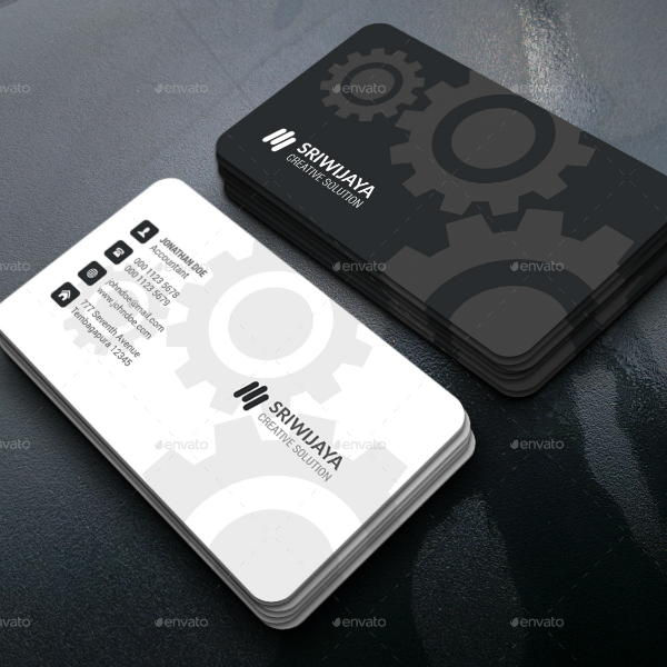 Gears Engineer Business Card Template