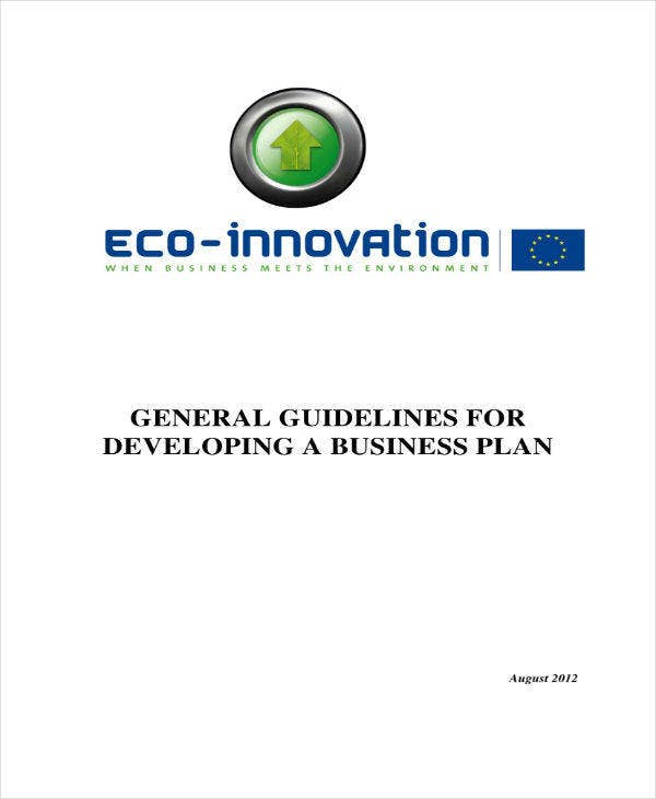 General Business Plan Guideline