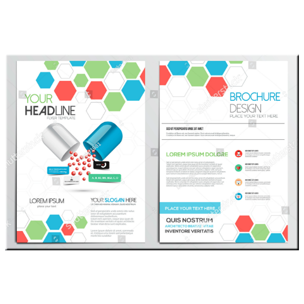 Geometric Shapes Medical Brochure Template