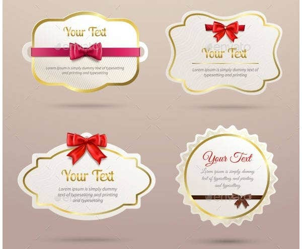Gift Labels Design Set