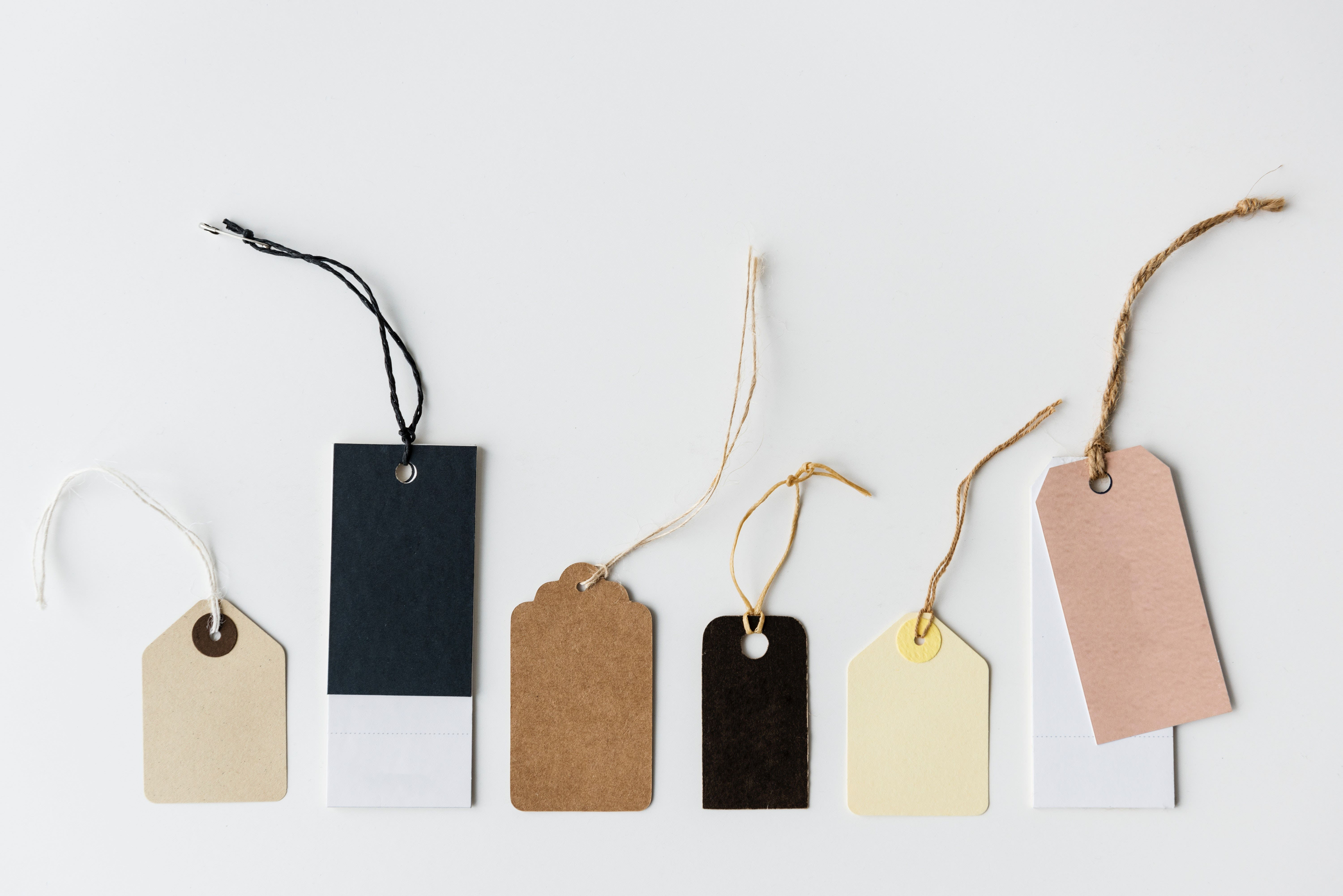 gift tags in string