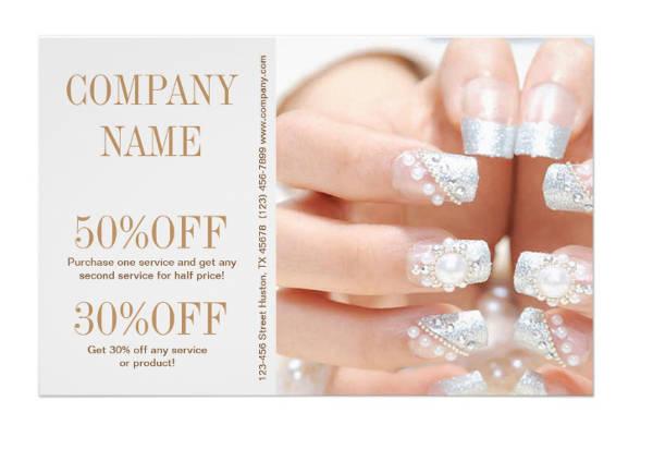girly-fashion-beauty-silver-nail-salon-flyer