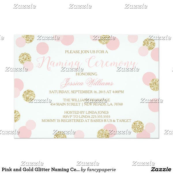 13 Naming Ceremony Invitation Card Templates Designs