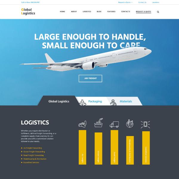 Global Logistics Company Website Template