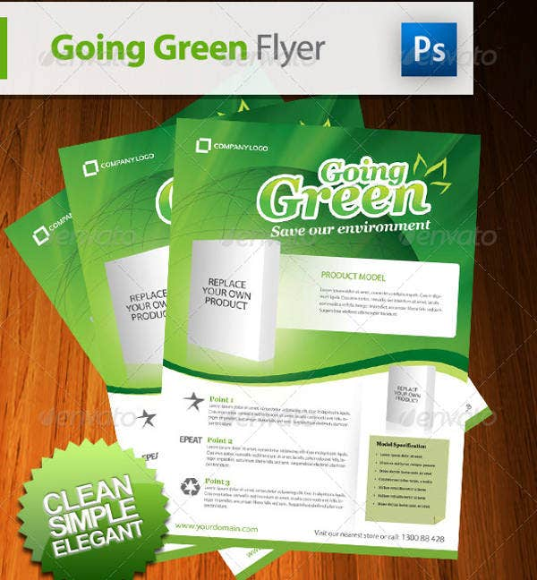 going green product flyer design