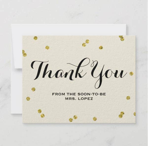 gold-glitter-bridal-shower-thank-you-cards