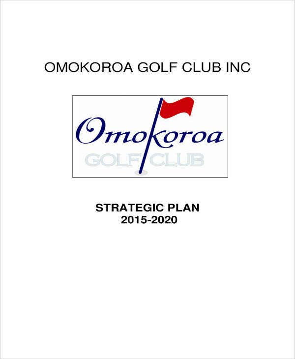 Golf Club Strategic Plan Example