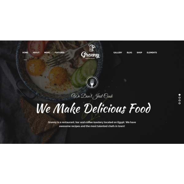 granny restaurant management website template