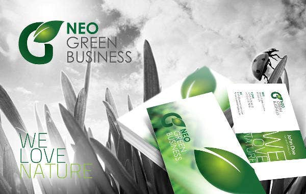 Green Business Corporate Flyer