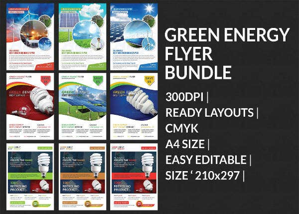 green energy business flyer