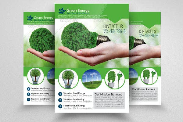 green energy flyer sample