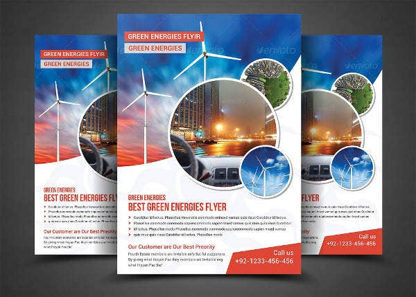 green energy flyer template2