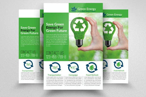 green flyer template
