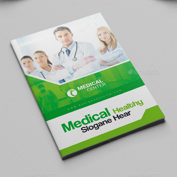 Green Medical Center Booklet Brochure Template