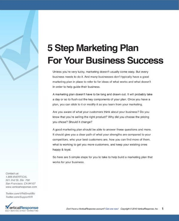 guide to business marketing plan 01