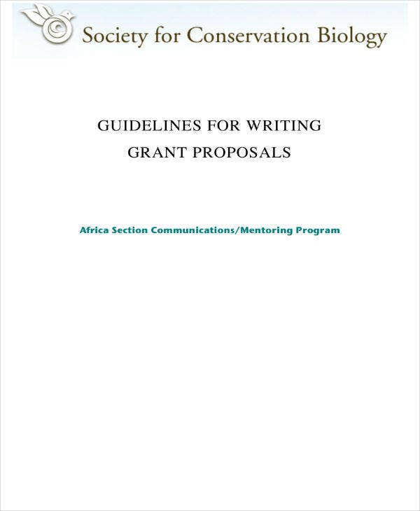 Guidelines for Grant Proposal Writing