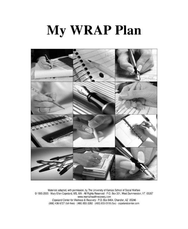 guidlines of developing a wrap plan and sample