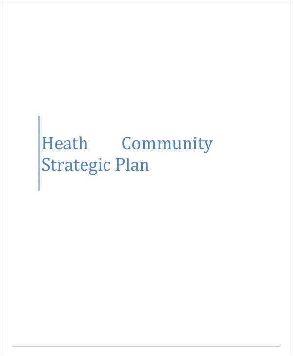 Health Community Strategic Plan